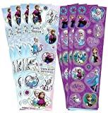 Disney Frozen (Eiskönigin) - Sticker insgesamt 8 Bogen (16x5 cm) - 2 versch. Motive (super zum Füllen von Partytüten)
