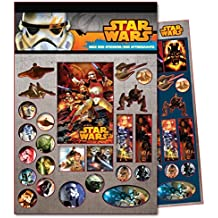 Star Wars - Bloc con 600 stickers surtidos, 14 x 21 cm (Factory 77770079)