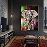 quanjucheer teilweise Paste DIY Diamant Gemälde Elefant Stickerei Kreuzstich Home Wand Art Decor 6529 bunt