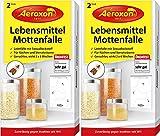 Aeroxon - Lebensmittelmottenfalle mit Pheromonen - Zweierpack = 4 Stück