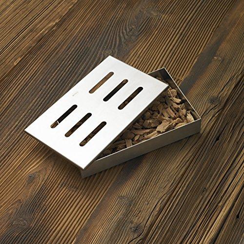 61tVC82j2SL - RÖSLE Räucherbox, Edelstahl 18/10, für Smoker, Holzkohle- und Gasgrills