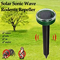 💕💕 1 pc Solar Ultrasonic Snake Mouse Repellers Pest Rodent Repeller Reject Outdoor
