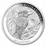 Australian Australien Kookaburra 2014 Privy Mark Pferd 1 Oz Unze Silber Silver Silbermünze Anlagemünze + Zertifikat von der Marke Securina24
