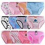 Anntry Bequeme Baumwollene Kinder-Unterhosen Unterwäsche für Kleine Mädschen Höschen 2-10 Jahre. (Eine Packung von 12 Stücke)
