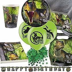Dinosaurio Ataque Ultimate Artículos Para Fiestas Kit para 8