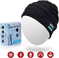Jiamus Bluetooth Beanie Hat, Wireless Smart Headphone Premium Knit Cap with Speaker & Mic, Unisex Headset Musical Warm Cap for Winter Outdoor Sports