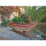 Benelando Farbenfrohe Hängematte mit Holzgestell