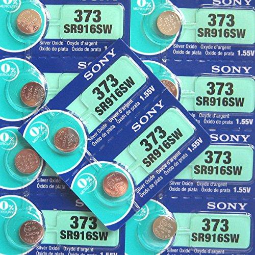 Sony 373 SR916SW Silberoxyd Uhrenbatterie Quecksilberfrei Pack von 10