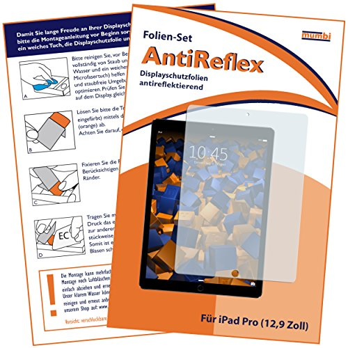 mumbi Schutzfolie kompatibel mit Apple iPad Pro 12,9 Zoll Folie matt, Bildschirmschutzfolie (1x)