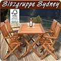Deuba® Sitzgruppe Holz Sydney Variante mit Zubehör Sitzkissen - Abdeckung von Deuba - Gartenmöbel von Du und Dein Garten