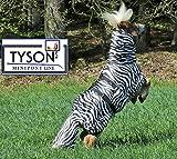 Ekzemerdecke Ekzemer Decke Fliegendecke mit Halsteil Minisehtty Shetty Zebra 60 70 80 90 100 cm Tysons (70)