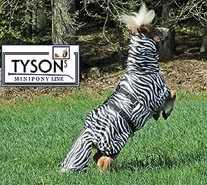 Ekzemerdecke Ekzemer Decke Fliegendecke mit Halsteil Minisehtty Shetty Zebra 60 70 80 90 100 cm Tysons (60)