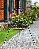 Korono Schwenkgrill stabiles Teleskopgestell 180 cm & Rost 80 cm Pulver-beschichtetes Stahl - Gartengrill für alle Feste und Familienfeiern
