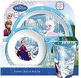Spearmark 3-Piece Frozen Tumbler/ Bowl and Plate Set, Multi-Colour