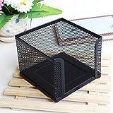 FENICAL Zettelbox Metall Mesh Notizzettel-Boxen Tisch Desktop Zubehör (Schwarz)