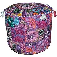 El baúl de Manualidades Patchwork Rajasthali hechos a mano étnica boardado trabajo otomana indio bohemio thaikissen reposapiés decorativo