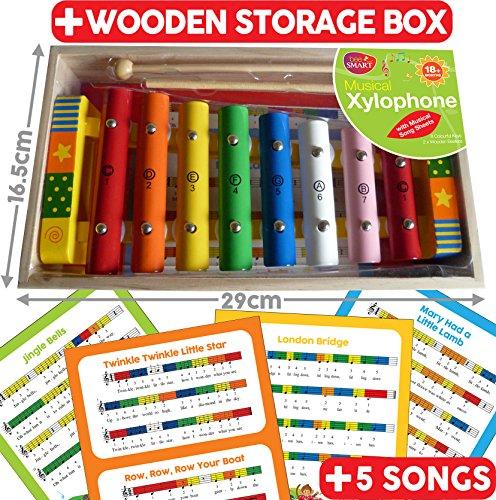 Xylophone Musical avec musique feuille et 2baguettes (Nouveau, cadeau, peinture les imperfections mineures)