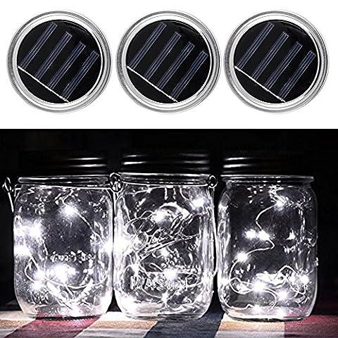 3 Pack Color Changing Solar Mason Jar Light Lid Insert