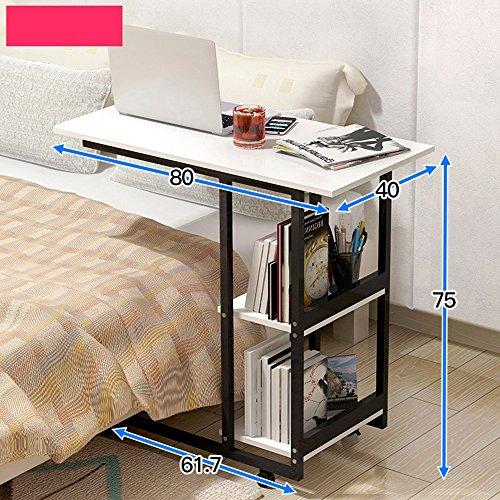 Tische Zr- Nachttisch Faul Notizbuch Computertisch Es Kann Sich Bewegen Haushalt Schlafzimmer Einfach Schreibtisch Multifunktion Bücherregal Bed Nutzung Fahrbarer (Farbe : D) 'd-bücherregal