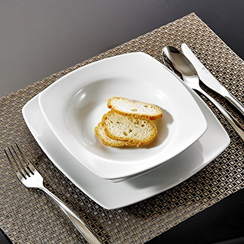 Malacasa, serie julia, servizio piatti 12 persone offerte servizio da tavola in porcellana set 36 pezzi con 12 piatti, 12 piatti fondi e 12 piatti da dessert