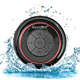 SoundBot® SB517 Extreme Bluetooth Wireless Speaker Handsfree Portable Speakerphone w/ Military Grade Level 7 Total Waterproof, 3W Speaker Output, 6 hrs Playback time, Built-In Rechargeable Battery, Dust-proof, Built-in Mic, Control Buttons, Detachable Suc