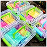 All4All Educational Toys Magic Play Sand/ Intelligent Plasticine Magic Sand Children Toys, With 6 Pcs Mould, Novelty Indoor Toys Model