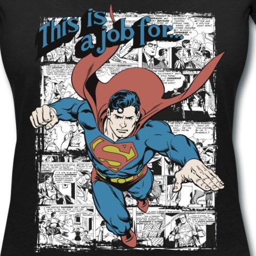 DC Comics Originals Superman Bande Dessinée T-shirt col V Femme de Spreadshirt® Noir