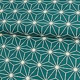 Stoffe Werning Dekostoff grafisches Würfel Stern Muster