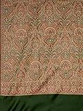 Weavers Villa Women's Wool Shawl (WV-342-DARKGREEN_Green_L)