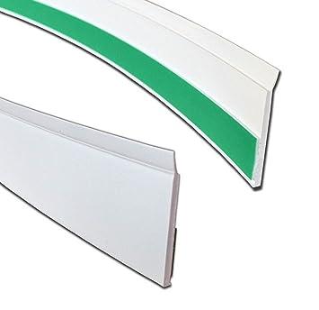 Hervorragend BawiTec Kunststoff Flachleiste mit Lippe Abdeckleiste weiß  JQ61