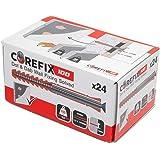 Corefix 100 Heavy Duty Dot & Dab Muur Gipsplaten Bevestiging voor tv's, kasten, Radiatoren, & Rekken 24 Doos