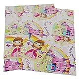 2Simon Elvin Geschenkpapier Geschenk Rainbow Einhorn Mädchen Happy Birthday Prinzessin