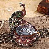 Peacock cenicero Creativa Salón Mesa de café decoración Adornos de...