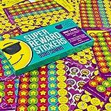 Purple Ladybug Novelty Stickers per la Scuola, gli Insegnanti e i Bambini Confezione da 3080 Adesivi d'Incoraggiamento e di Lode | Motivi di Smileys, Emoji e Medaglie (Inglese) Sorridenti