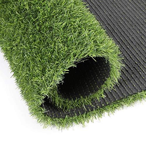 Jinxiaobei Gräser Outdoor Kunstrasen Premium Kunstrasen-Kunstrasenteppich mit Drainagelöchern und Gummiverschlüsselung (Color : 20mm, Size : 1mX2m) -