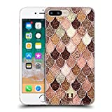 Head Case Designs Rose-Gold Meerjungfrau Waage Muster Ruckseite Hülle für iPhone 7 Plus/iPhone 8 Plus