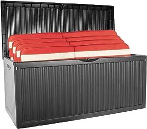 Auflagenbox mit Rollen 350L Gartenbox Gartentruhe Auflagen