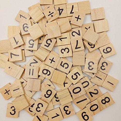 Holzklötze–Kunstnägel Digitaler Anzeige mit Buchstaben/Ziffern Holz Spielzeug Holz Bausteine Kinder Geschenk-Set
