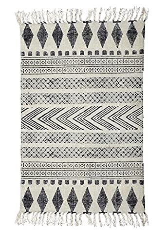 Rug, Block, grey/black, 160x230 cm, 100%