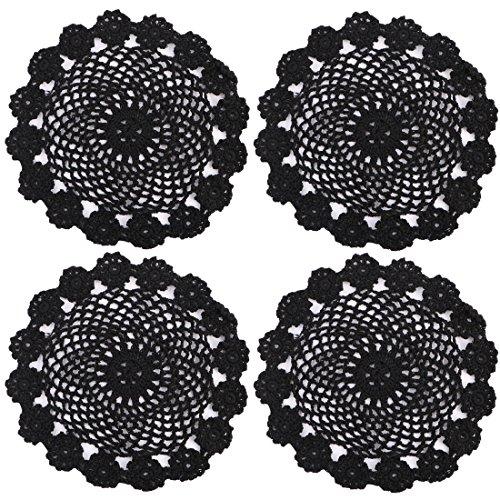 kilofly-di-cotone-per-uncinetto-centrini-confezione-da-4-pezzi-ghirlanda-7-inch-cotone-black-18-cm