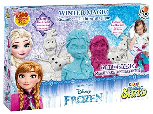Preisvergleich Produktbild Craze 54230 - Magic Sand Frozen Winter Magic Box. Ca. 600g Sand mit Glitzer in 3 verschiedenen Farben