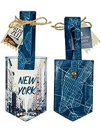 Die Spiegelburg 14562, etiqueta para maleta - Diseño de la ciudad de Nueva York - adecuado para viajes - algodón recubierto