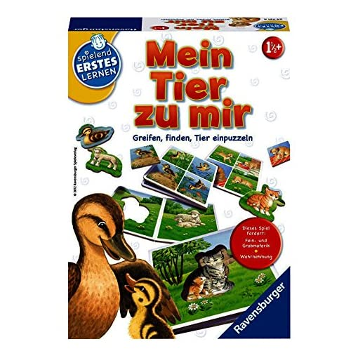 Ravensburger-24731-Mein-Tier-zu-mir Ravensburger Spielen und Lernen 24731 – Mein Tier zu mir -