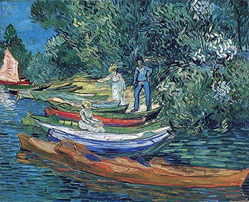 Vincent Van Gogh - Rowing Boats on The Banks of The Oise, 1890 - Small - Matte Print -