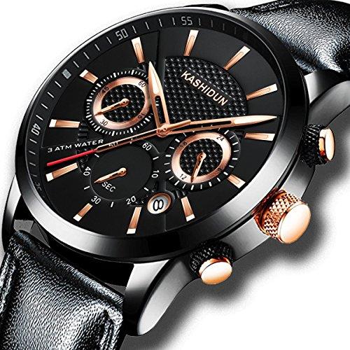 a6c22143f63 Kashidun orologi da uomo casual esercito orologio da polso al quarzo  militare moda sportiva impermeabile data