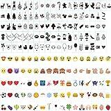 ISWEES Cinema Sign Incluyendo Cartas Letras en Color Pastel, 96 negro + 85 de colores número Emojis Símbolos y glifos Decorativos Especiales para Uso con Cuaderno Cineal A4