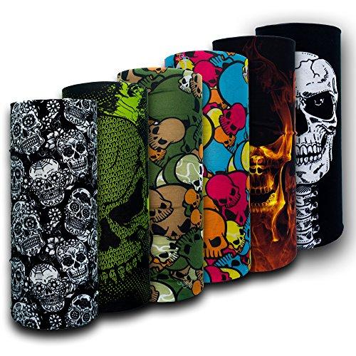 VersaScarf Skulls | Multi-Functional Head-Wear | Neck Tube Snood Balaclava Bandana Mask Scarf Warmer for Men, Women & Kids