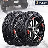 Rupse Car Winter Snow Chains for Car SUV Truck Emergency Anti-slip Chain Free