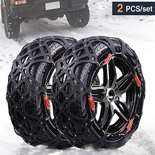 Rupse auto catene da neve invernale per auto suv camion emergenza antiscivolo catena libera di alimentazione con 205mm-255mm / r15-r19
