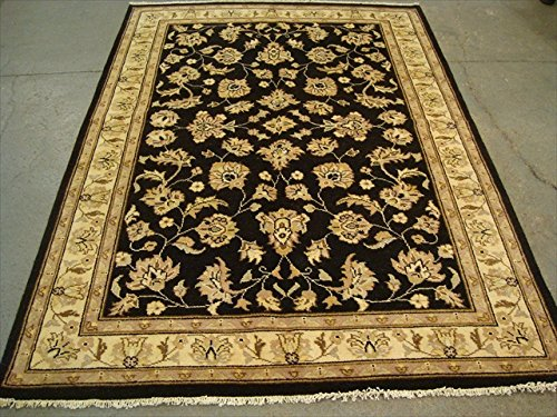 Excellent black Chobi Zeigler Mahal Vegetarier gefärbt Bereich Teppiche Teppich von Hand geknotet (7.11X 5,8) ' (Schwarz Mahal Teppich)